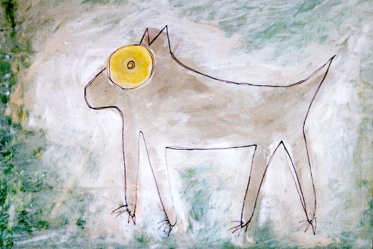 Illustration Hund Katze Maus