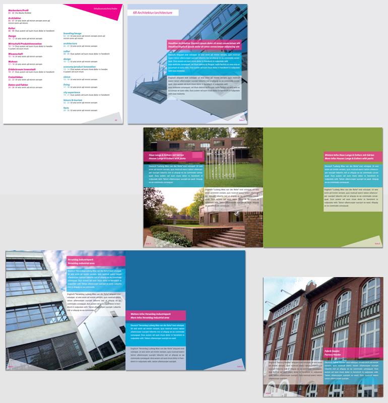 2. Entwurf Krefelder Imagebroschüre