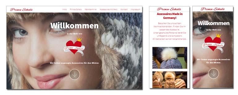 Prinde Schals OnePage Website