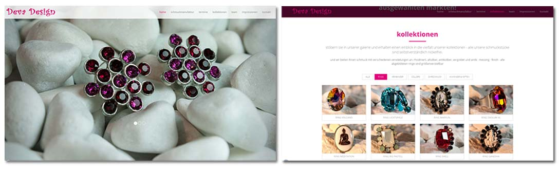 Deva Design Website